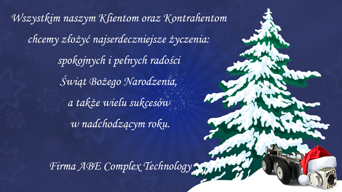 życzenia na święta ABE complex technology