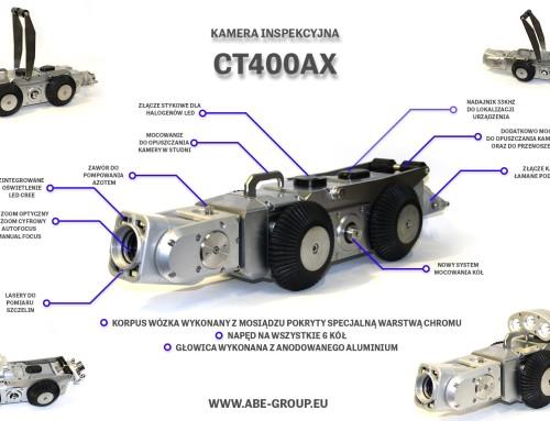 Nowy model kamery inspekcyjnej CT400, czyli CT400AX
