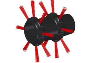 prowadnica-kamery-inspekcyjnej-wpychanej-na-włóknie-z-szczotkami-prowadzącymi