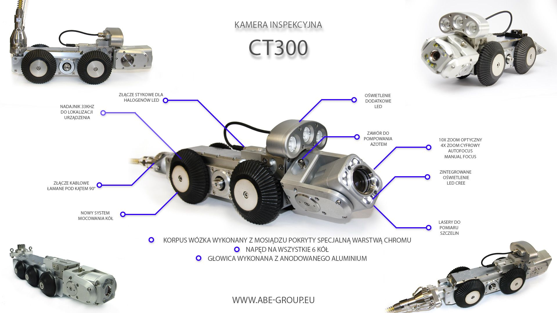 Kamera do inspekcji tv kanalizacji CT300