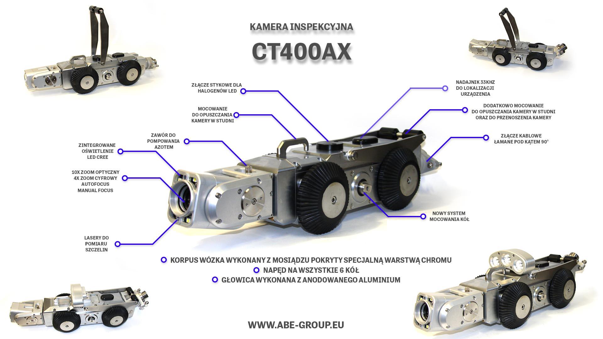 kamera inspekcyjna CT400 do inspekcji kanalizcji