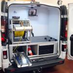 przedział roboczy samochodu do inspekcji kanalizacji