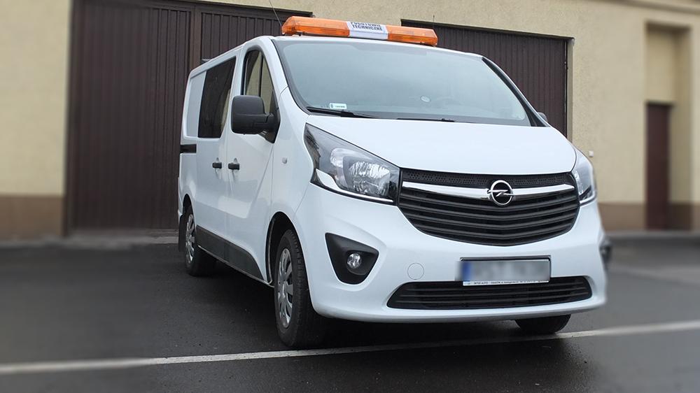 Zabudowa samochodu do inspekcji kanalizacji na Opel Vivaro
